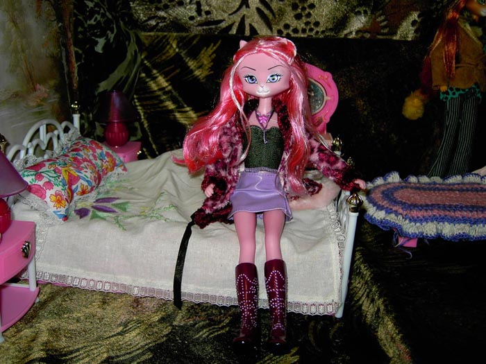 Free shipping solid lanard catwoman packed 1lot = 4/pieces doll cat girl zombie monster monster high school girls toys